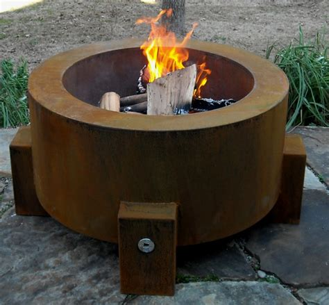 Steel Firepit Bentintoshape Net Announces Eco Friendly Sinker Cypress Patio And Garden Table Collection