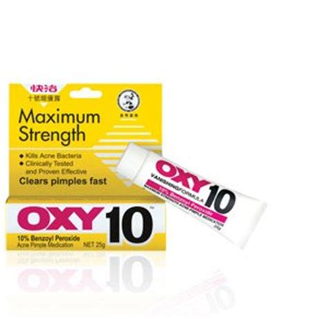 Oxy 10 Anti Pimple 25 Gram Size oxy maximum strength oxy 10 acne treatment 25g oxy beautil
