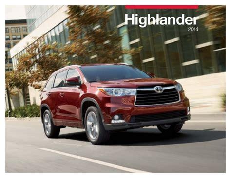 Toyota Highlander Brochure 2014 Toyota Highlander Brochure Toyota