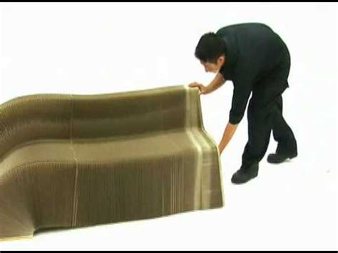 How To Make An Armchair Slinky Chair Made From Recycled Cardboard Youtube
