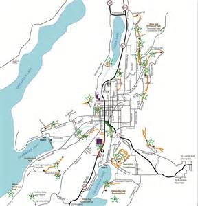 map of vernon trails maps of vernon area ribbons of green trails