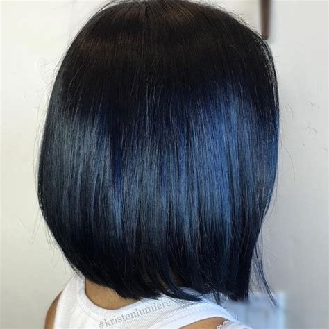 black and blue hair color blue black hair color ideas best blue highlights in black