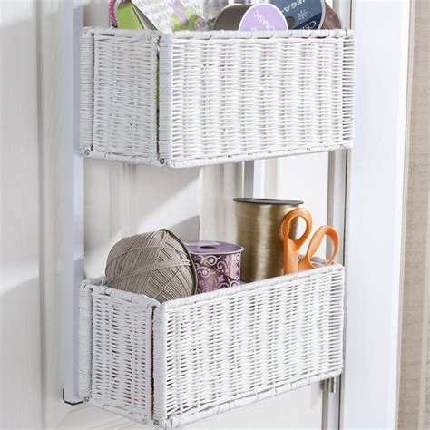 home decor home decor alessandra white storage baskets southern enterprises over the door basket storage in white