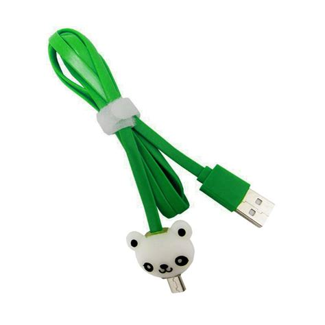 Kabel Data kabel data micro usb led karakter panda