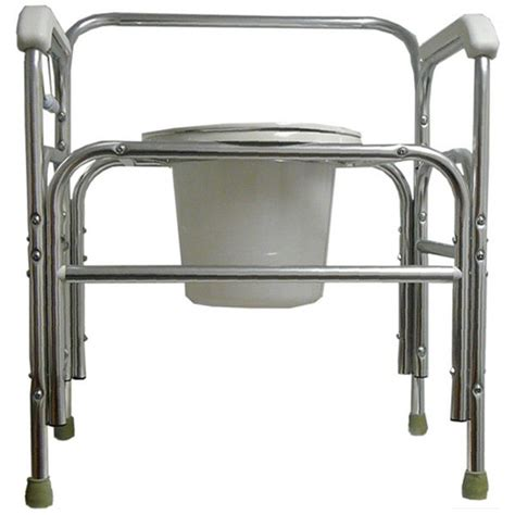 bariatric heavy duty commode chair left and right fixed