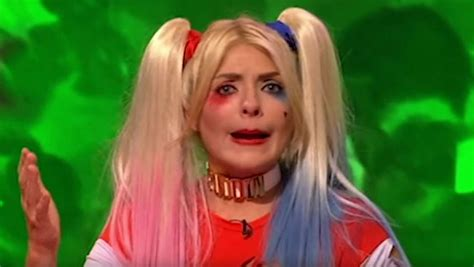 celebrity juice halloween special holly holly willoughby as suicide squad s harley quinn on