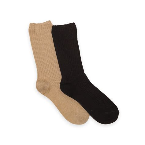 knitting pattern heavy socks basic editions women s 2 pairs heavy casual ribbed knit