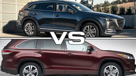 toyota highlander vs toyota highlander vs mazda cx 9 road test