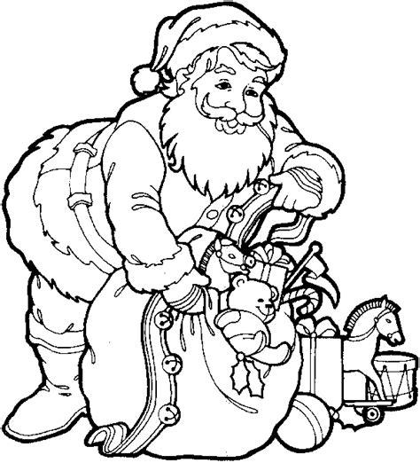 santa bag coloring page christmas activities com coloring page santa with bag