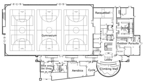 facility floor plan recreational services gt student life center gt floor plans