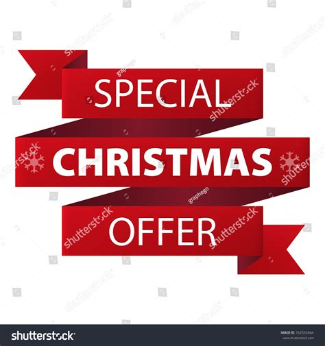 special christmas offer red ribbon banner stock