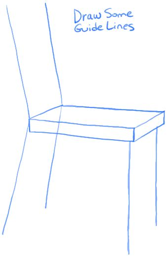 How To Draw A Chair by Easy Chair Drawing Chairs Model