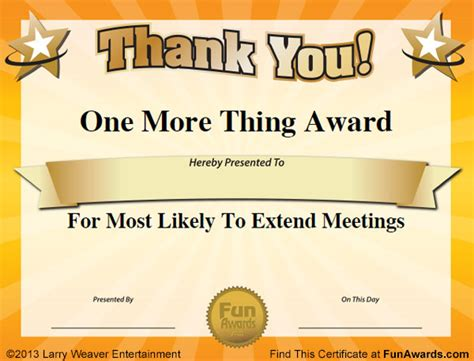 templates for office awards employee appreciation award certificate