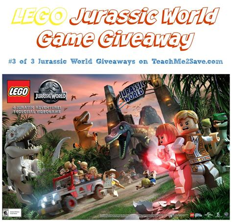 World Giveaways - lego jurassic world game giveaway funtastic life