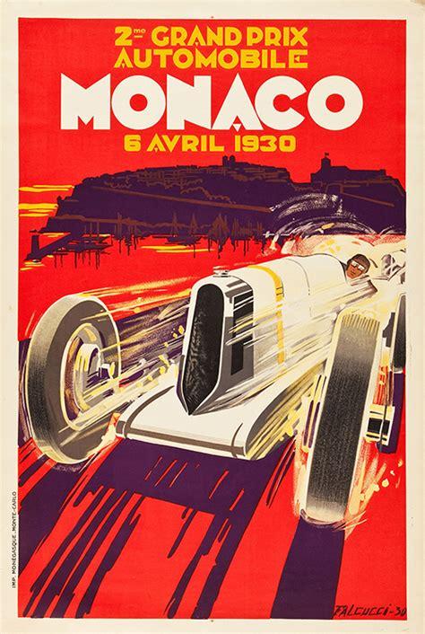 Monaco Grand Prix 1930   Vintage Racing Poster   Free