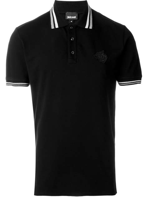 Sale Sweater Collar Colar Kerah just cavalli striped collar polo shirt in black for lyst