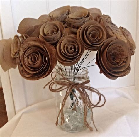 Craft Paper Roses - say i do to these fab 51 rustic wedding decorations