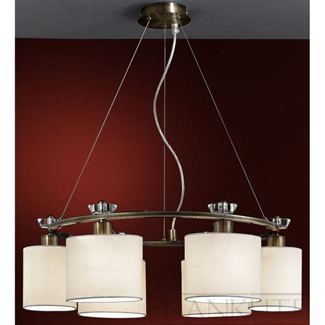 Fabric Pendant Lights Piazza Fl2182el 6 Pendant Ceiling 6 Light Bronze Fabric Shade
