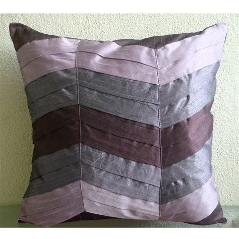 couch throw pillows handmade textured pintucks solid color pillows cover plum
