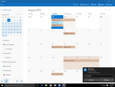calendar windows calendar template 2016