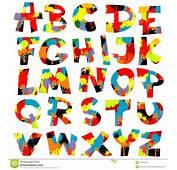 Le Lettere Dellalfabeto Con Vernice Spruzza Immagine