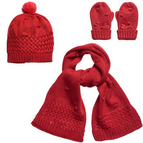 mayoral baby hat scarf mittens set