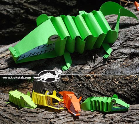 How To Make Crocodile With Paper - krokotak paper alligator