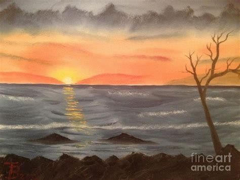 bob ross paintings sunset at sunset point of no 23