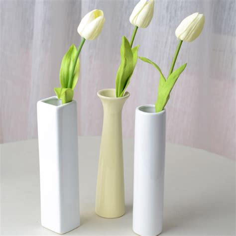 Flower Vase Decoration Home 3 Style Fashion Ceramic Vases Artificial Flower Vase Home Decorations Without Flowers Jpg