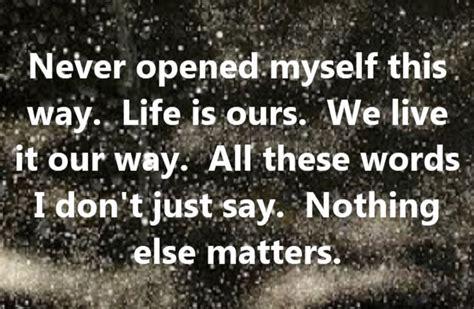 nothing else matters lyrics metallica nothing else matters song lyrics song