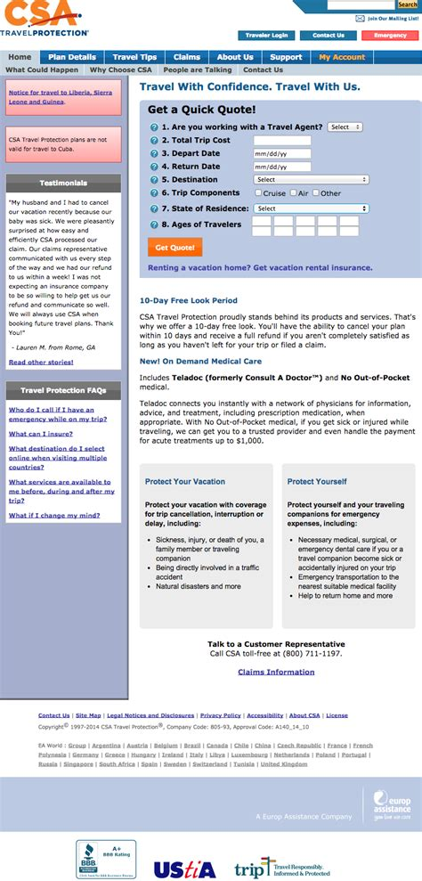 csa travel insurance top 2 complaints and reviews about csa travel protection