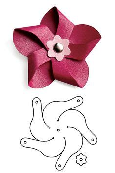 pinwheel bow template project tutorial how to make paper flowers with your