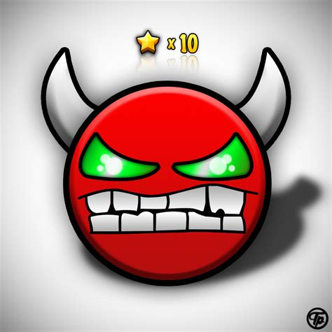steam icons geometry dash steam community demon icon re creation