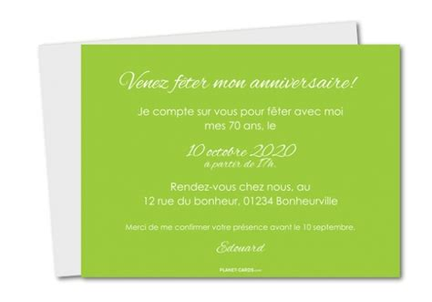modele invitation 70 ans document