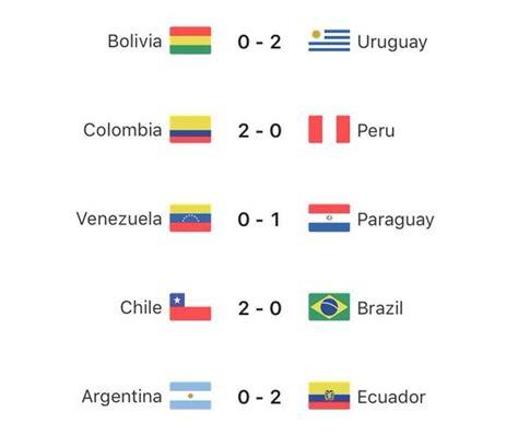 resultados mundial rusia 2018 eliminatorias sudamericanas a rusia 2018 1 fecha
