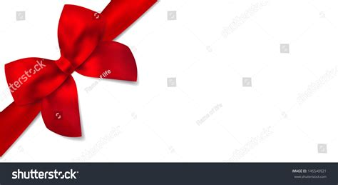 gift for architect gift certificate isolated gift red bow stock illustration