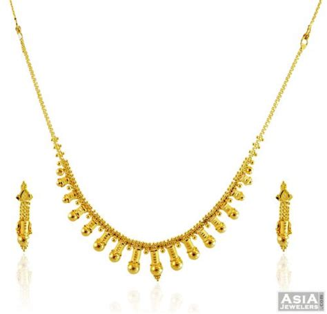light weight set 22k light weight set ajns57984 22k gold necklace and