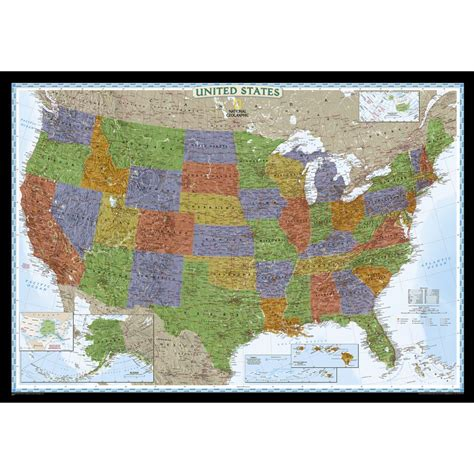 national geographic usa map united states classic wall map national geographic store