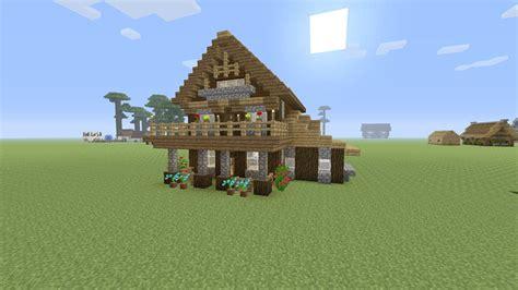 minecraft een huis minecraft een mooie houten huis maken youtube