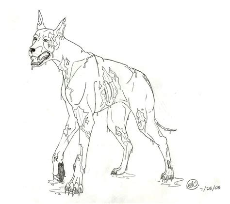zombie dog coloring page zombie dogs resident evil drawings