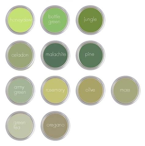 paint colors green shades 87 fantastiche immagini su l shades of green paint colours