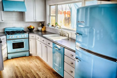 colorful kitchen appliances big chill colorful appliances home decorating trends