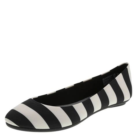 black and white flat shoes ballet flats go bold in black and white stripes payless