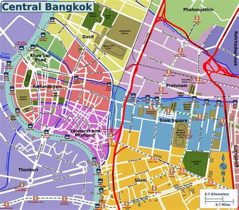 bangkok map how to get around bangkok