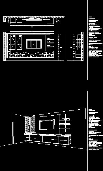 tv cabinet dwg block  autocad designs cad