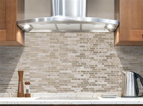 Kitchen Backsplash Peel And Stick Tiles Simple Kitchen Ideas With Brown Bellagio Sabbia Peel Stick Backsplash Tile White Marble Kitchen