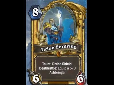 hearthstone gold card template hearthstone custom tirion fordring gold card animation
