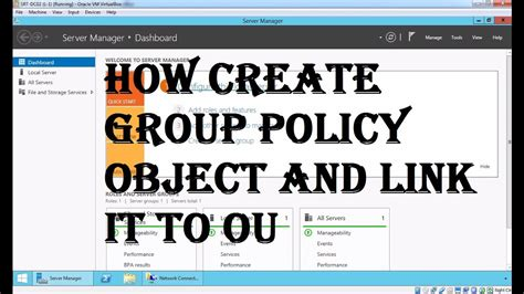 create  link  group policy object  active