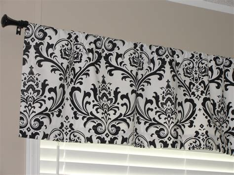 Black And White Valance premier prints black and white damask valance 50 wide x