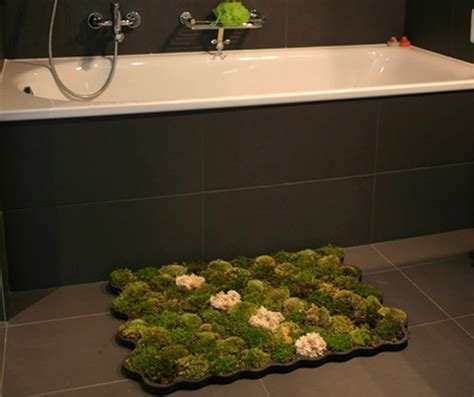 moss bathroom rug living moss carpet adds a touch of green to your bathroom inhabitat sustainable design